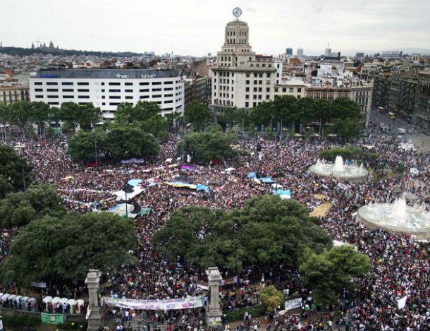 Plaça Catalunya, Barcelona, 27 de mayo de 2011 | Foto: Pere Virgili