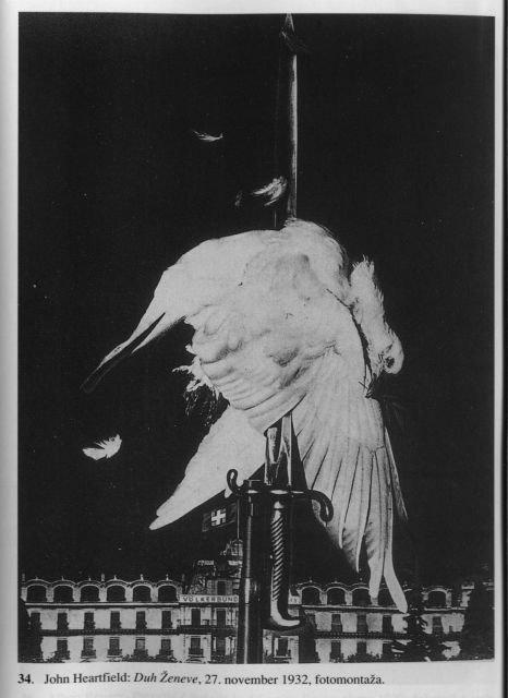 La paloma de la paz, Ginebra. Fotomontaje de John Heartfield, 27 de noviembre de 1932