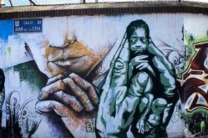 Graffiti, pobreza infantil