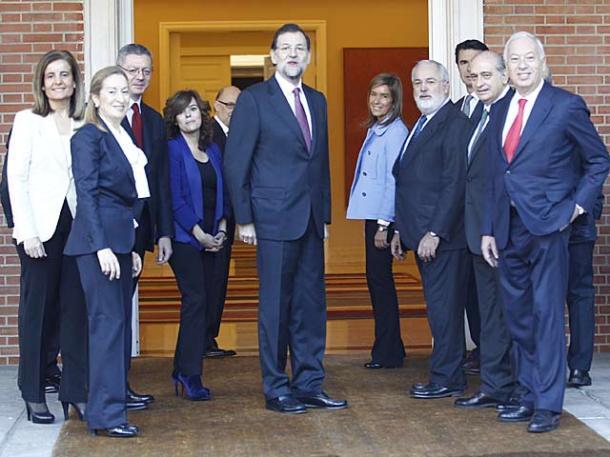 Primer Consejo de Ministros del Gobierno Rajoy, diciembre de 2011 | Foto: Alberto Cuellar para El Mundo
