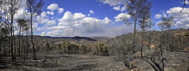 Vista panorámica tomada en el término municipal de Cortes de Pallás | Foto: Manuel Bruque