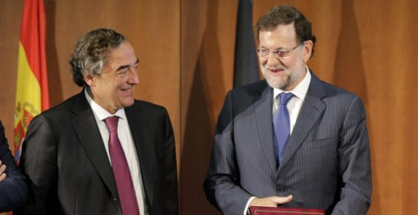 Joan Rosell, presidente de la CEOE, y Mariano Rajoy, presidente del Gobierno | EFE/Zipi