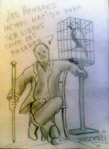 Hombres libres | Dibujo de @xosetwi