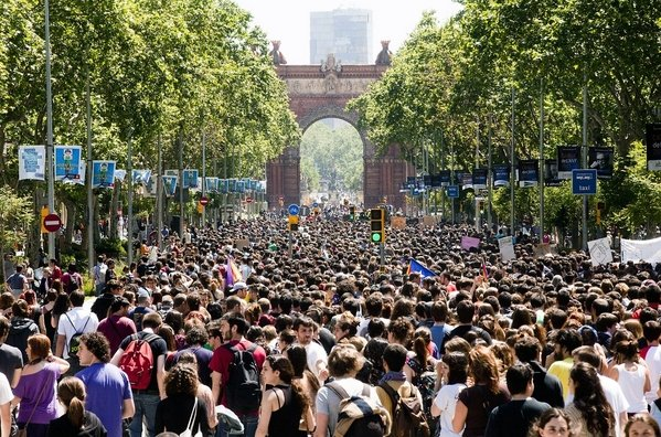 Manifestación de estudiantes en Barcelona, mayo de 2012 | Foto: Roser Vilallonga
