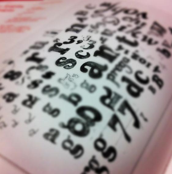 El alfabeto en desorden |Foto: Mónica Solanas