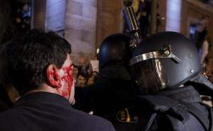 Herido en Plaza Neptuno | Foto: 20minutos