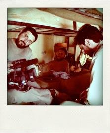 David Beriain y Sergio Caro. Imagen extraida de su web www.enpiedeguerra.tv