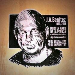 Juan Andrés Benítez, muerto a manos de la policía. Basta de brutalidad, basta de impunidad.