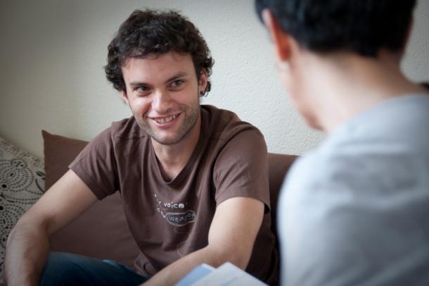 Carlos Suárez, director, guionista y productor del documental, a este lado del charco | Fotografía: Aitor Fernández