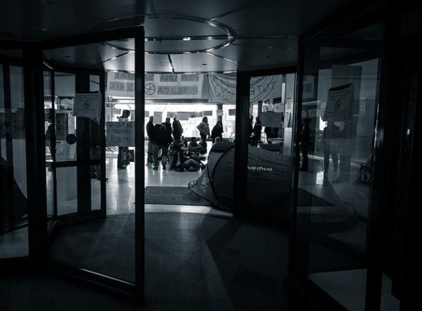 Inicio de un acto informativo en el Hospital Clinic de Barcelona, diciembre 2012 | Foto: David Amela