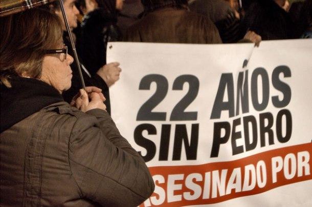 La madre de Pedro Álvarez, asesinado en 1992 por un policía, diciembre 2014 | Foto: Desideria Petrache (Escuela DateCuenta)