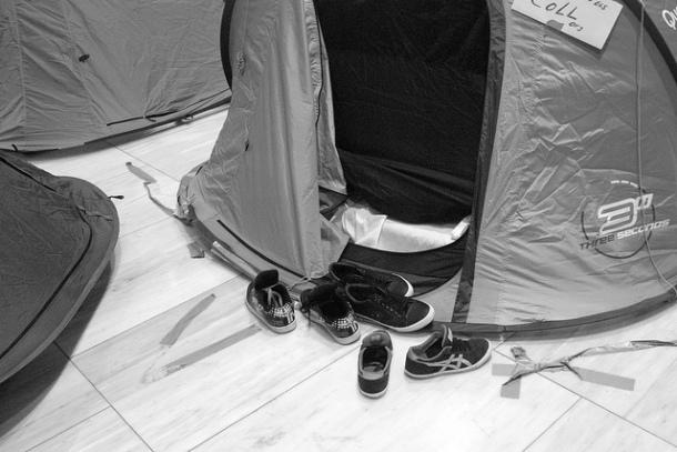 Preparativos para pasar la noche, diciembre 2012 | Foto: Cristina Molina