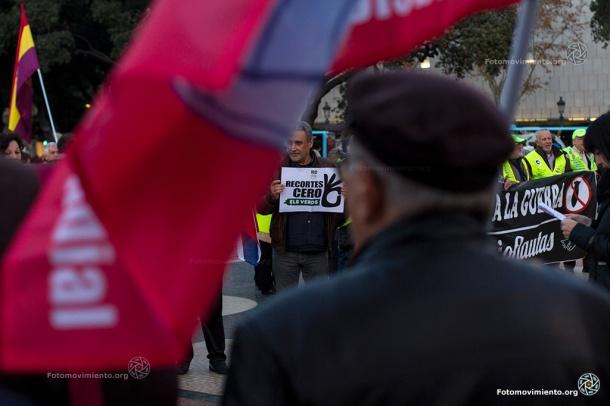 Concentración No a la guerra, Barcelona, 12 de diciembre de 2015 | Foto: Tono Carbajo para Fotomovimiento