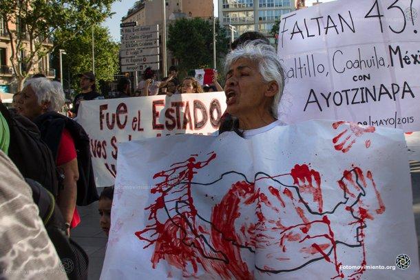 Eurocaravana 43 #Ayotzinapa en Barcelona, 9 de mayo 2015 | Foto: Tono Carbajo para Fotomovimiento