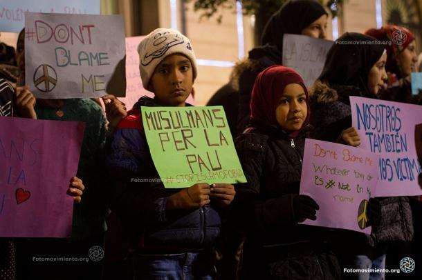Día Internacional de la Lucha contra la Islamofobia, Barcelona, 12 de diciembre de 2015 |Foto: Tono Carbajo para Fotomovimiento
