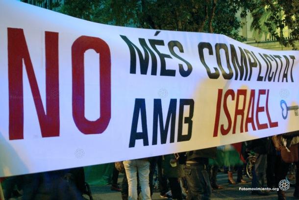 Concentración por la escalada de violencia en Palestina, Barcelona,  20 de octubre de 2015 | Foto: Manuel Roldán para Fotomovimiento