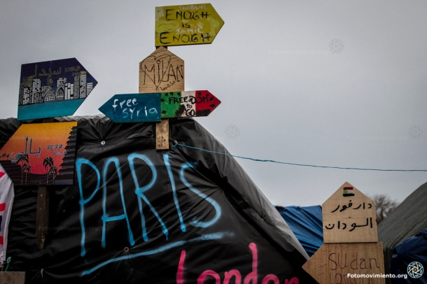 La Jungla, Calais, 20 de diciembre de 2015 |Foto: Mòni para Fotomovimiento